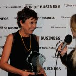 Rosy Araújo, vice-presidente da Zetrasoft, concede entrevista após a premiação