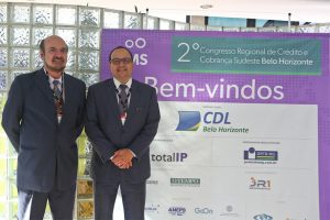 Maurício Mendes e Flávio Náufel no CMS - 2 Congresso Regional de Credito e Cobranca Sudeste Belo Horizonte Local : CDL BH Foto: Mariela Guimarães