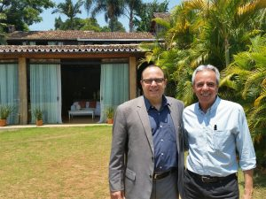 Reunião marcou o encontro entre Flávio Náufel e o prefeito de Tiradentes Ralph Justino