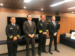 NAVIO-ESCOLA 'BRASIL' RECEBE EXECUTIVOS DE SPIN-OFF DA ZETRA NA EUROPA